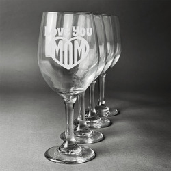 Love You Mom Wineglasses (Set of 4)