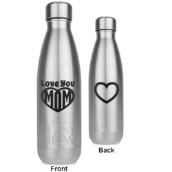 Love You Mom RTIC Bottle - Silver - Engraved Front & Back