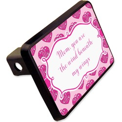 Love You Mom Rectangular Trailer Hitch Cover - 2""