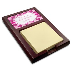 Love You Mom Red Mahogany Sticky Note Holder
