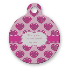 Love You Mom Round Pet Tag