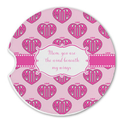 Love You Mom Sandstone Car Coasters
