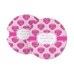 Love You Mom Sandstone Car Coasters