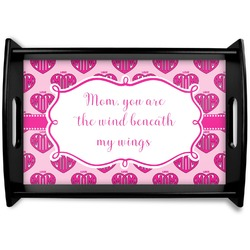Love You Mom Black Wooden Tray