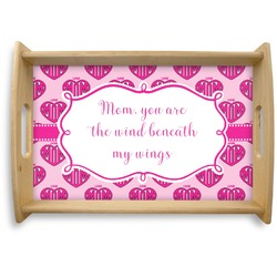 Love You Mom Natural Wooden Tray