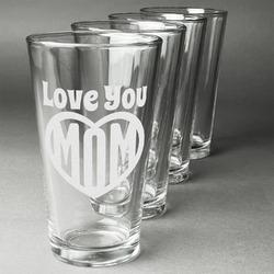 Love You Mom Beer Glasses (Set of 4)