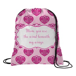 Love You Mom Drawstring Backpack