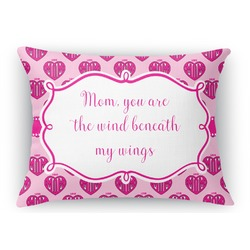 Love You Mom Rectangular Throw Pillow Case
