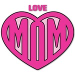 Love You Mom Graphic Decal - Custom Sized