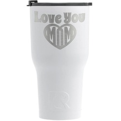Love You Mom RTIC Tumbler - White - Engraved Front