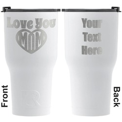 Love You Mom RTIC Tumbler - White - Engraved Front & Back