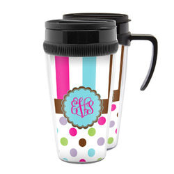 Stripes & Dots Acrylic Travel Mugs (Personalized)