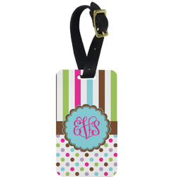 Stripes & Dots Aluminum Luggage Tag (Personalized)