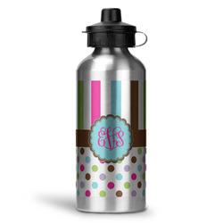 Stripes & Dots Water Bottle - Aluminum - 20 oz (Personalized)