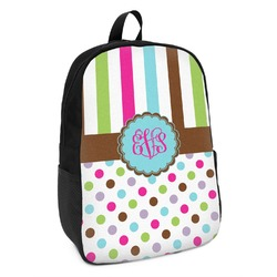 Stripes & Dots Kids Backpack (Personalized)