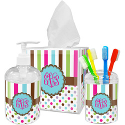 Stripes & Dots Bathroom Accessories Set (Personalized)