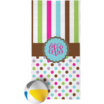 Stripes & Dots Beach Towel (Personalized)