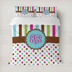Stripes & Dots Duvet Cover (Personalized)