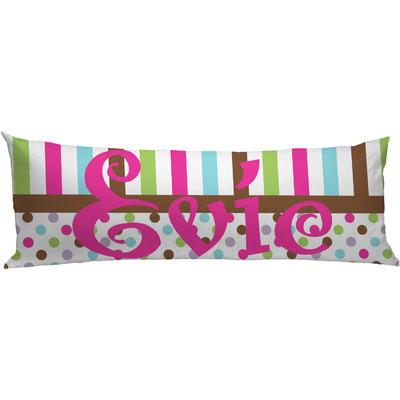Stripes & Dots Body Pillow Case (Personalized)