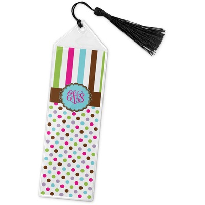 Stripes & Dots Book Mark w/Tassel (Personalized)