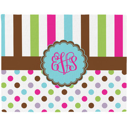 Stripes & Dots Placemat (Fabric) (Personalized)