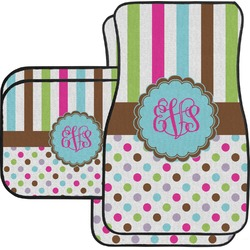 Stripes & Dots Car Floor Mats (Personalized)
