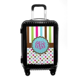 Stripes & Dots Carry On Hard Shell Suitcase (Personalized)