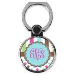 Stripes & Dots Cell Phone Ring Stand & Holder (Personalized)