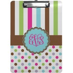 Stripes & Dots Clipboard (Personalized)