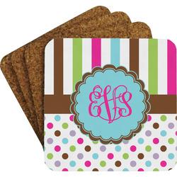 Stripes & Dots Coaster Set (Personalized)