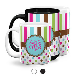 Stripes & Dots Coffee Mugs (Personalized)