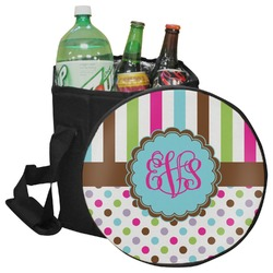 Stripes & Dots Collapsible Cooler & Seat (Personalized)