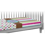 Stripes & Dots Crib Fitted Sheet (Personalized)