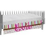 Stripes & Dots Crib Skirt (Personalized)