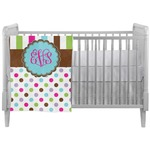 Stripes & Dots Crib Comforter / Quilt (Personalized)