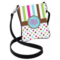 Stripes & Dots Cross Body Bag - 2 Sizes (Personalized)