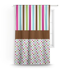 "Stripes & Dots Curtain - 50""x84"" Panel (Personalized)"