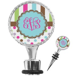 Stripes & Dots Wine Bottle Stopper (Personalized)