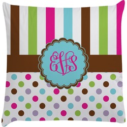 Stripes & Dots Decorative Pillow Case (Personalized)