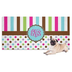Stripes & Dots Pet Towel (Personalized)