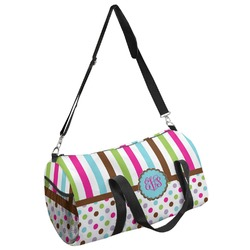 Stripes & Dots Duffel Bag - Multiple Sizes (Personalized)