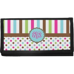 Stripes & Dots Canvas Checkbook Cover (Personalized)