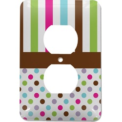 Stripes & Dots Electric Outlet Plate (Personalized)