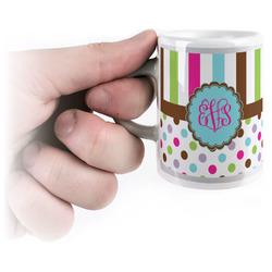 Stripes & Dots Espresso Mug - 3 oz (Personalized)