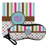 Stripes & Dots Eyeglass Case & Cloth (Personalized)