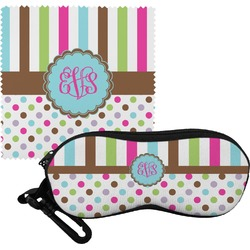 Stripes & Dots Eyeglass Case & Cloth (Personalized)
