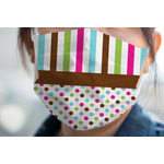 Stripes & Dots Face Mask Cover (Personalized)