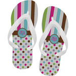 Stripes & Dots Flip Flops (Personalized)