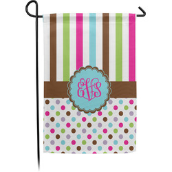 Stripes & Dots Garden Flag - Single or Double Sided (Personalized)