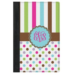 Stripes & Dots Genuine Leather Passport Cover (Personalized)